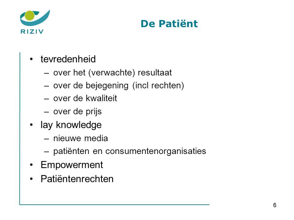 De Patiënt tevredenheid lay knowledge Empowerment Patiëntenrechten