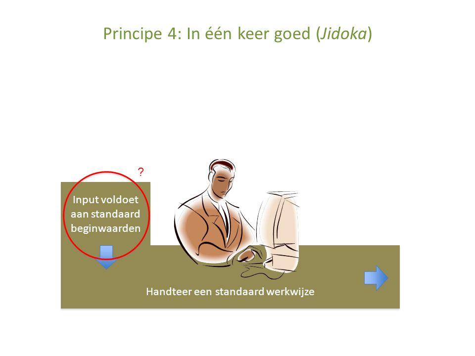 Principe 4: In één keer goed (Jidoka)