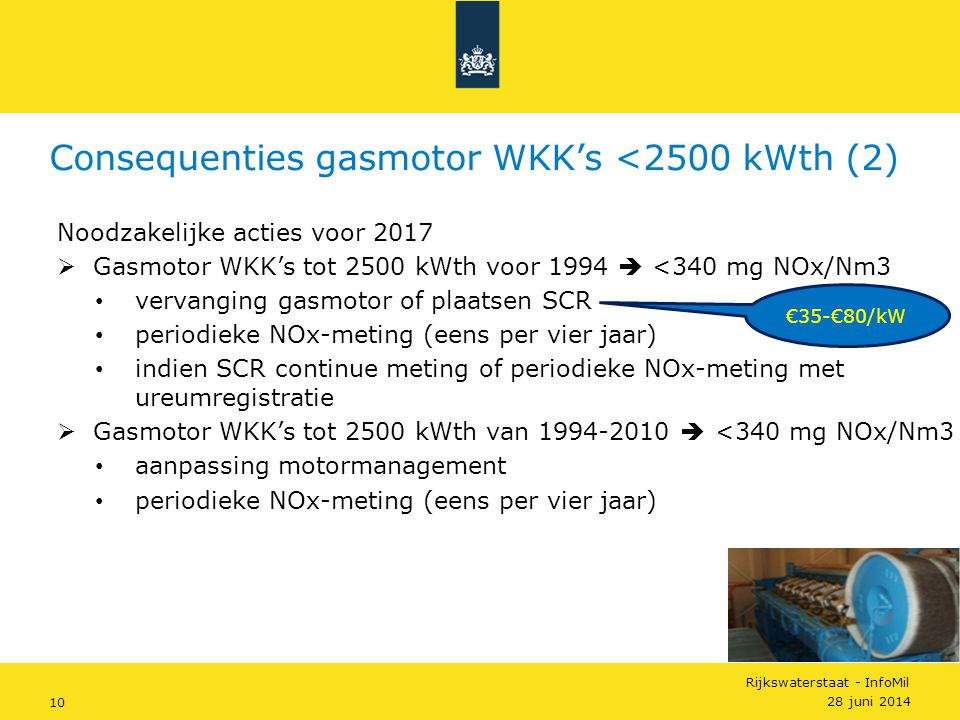 Consequenties gasmotor WKK's <2500 kWth (2)