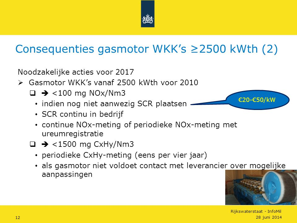 Consequenties gasmotor WKK's ≥2500 kWth (2)