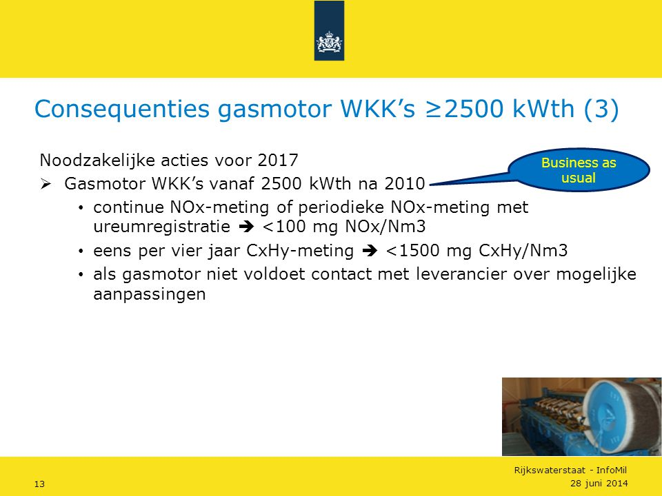 Consequenties gasmotor WKK's ≥2500 kWth (3)