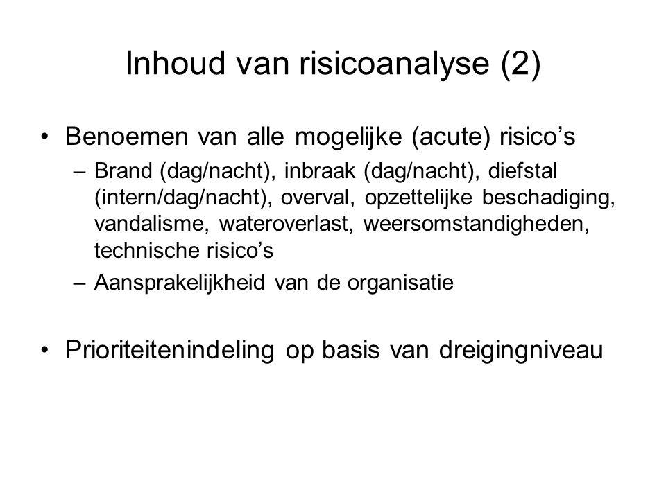 Inhoud van risicoanalyse (2)