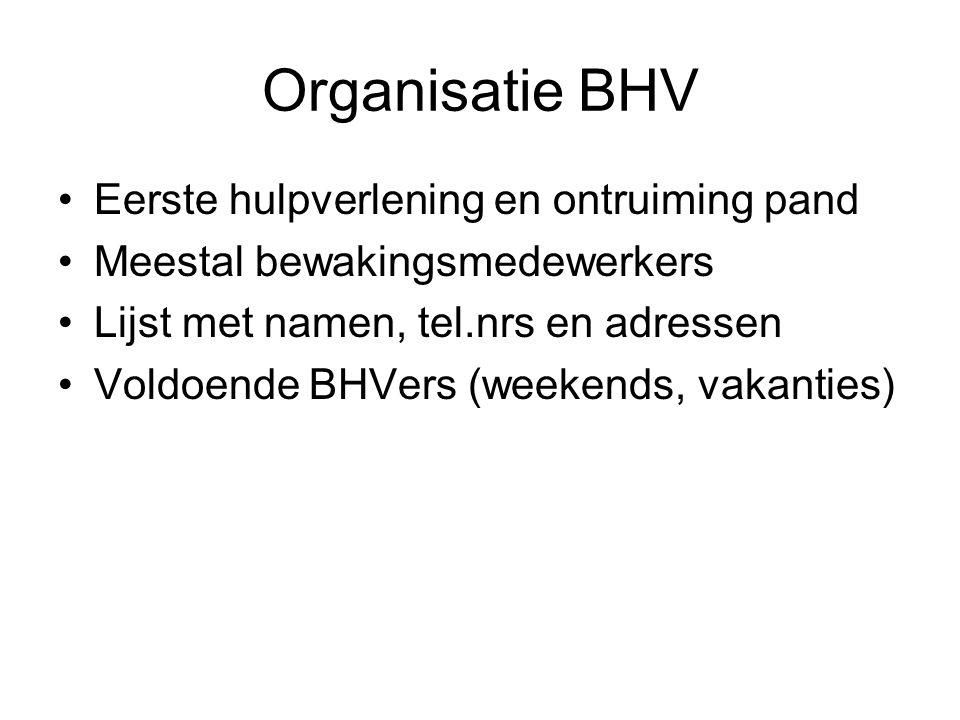Organisatie BHV Eerste hulpverlening en ontruiming pand
