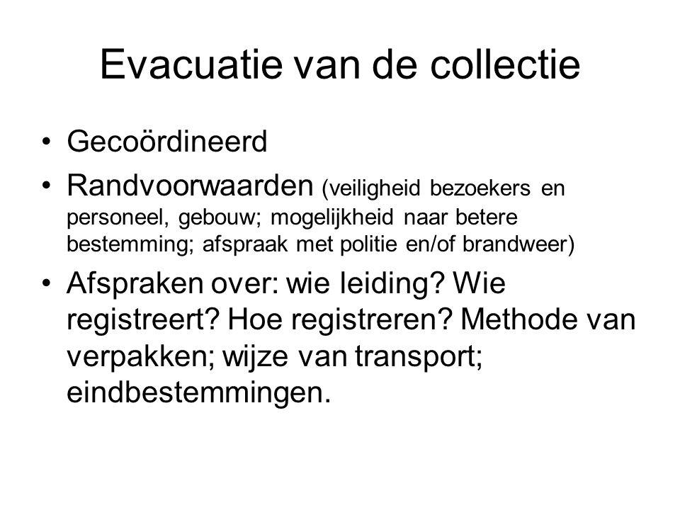 Evacuatie van de collectie
