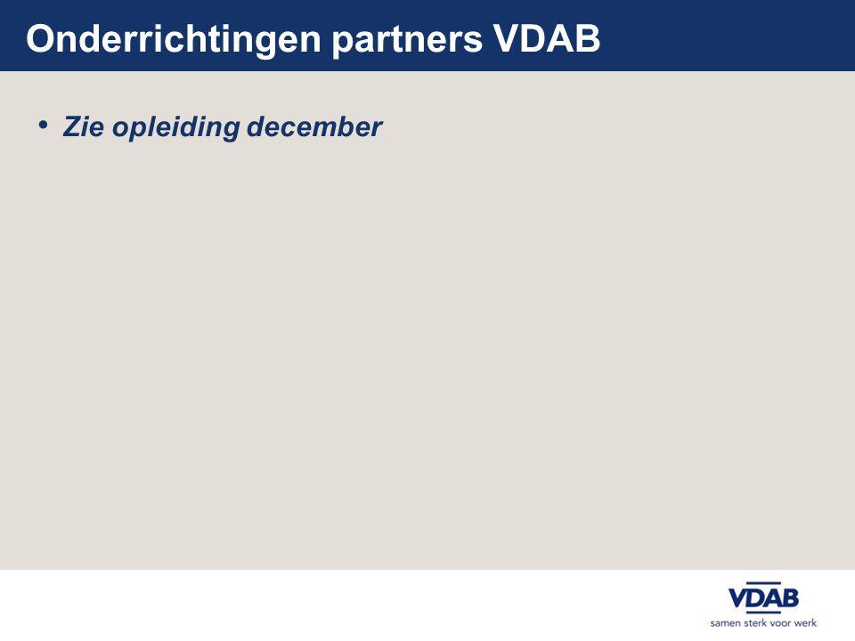 Onderrichtingen partners VDAB