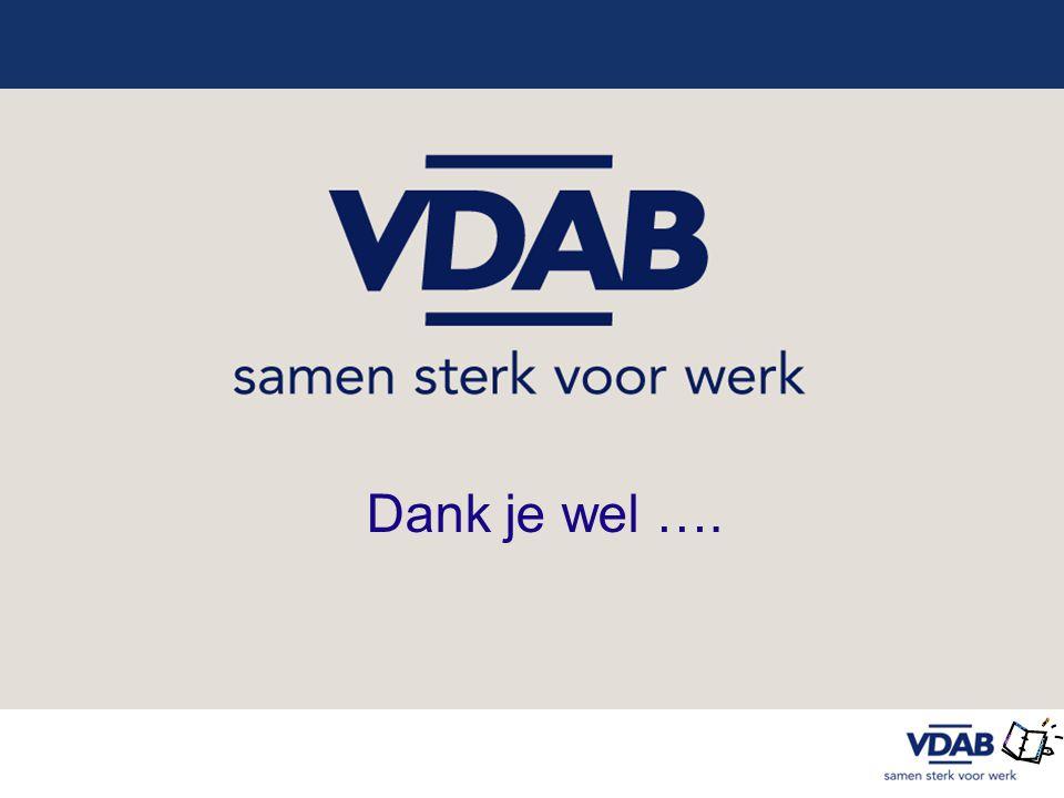 Dank je wel …. Slide : VDAB + partner Extra informatie voor trainers