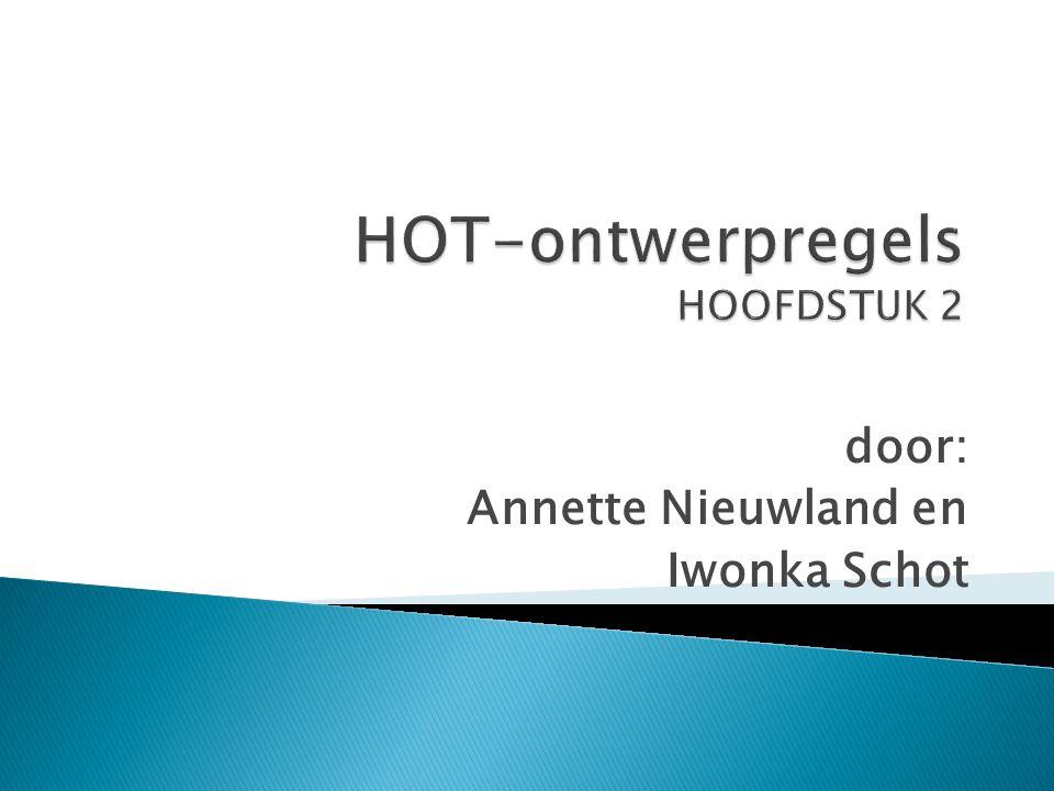 HOT-ontwerpregels HOOFDSTUK 2
