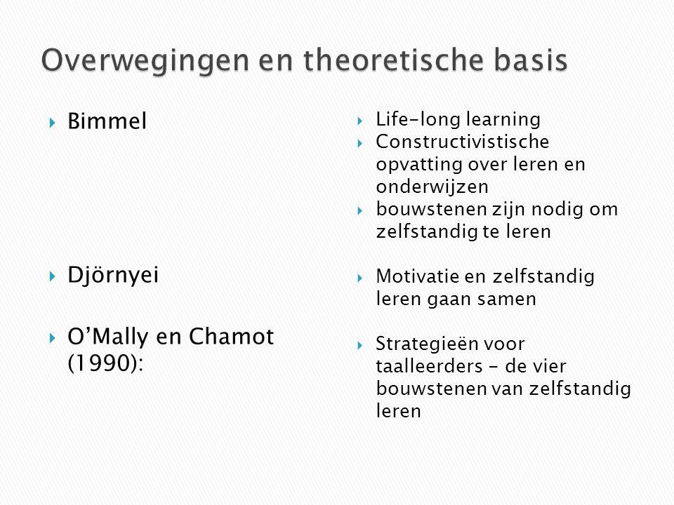 Overwegingen en theoretische basis