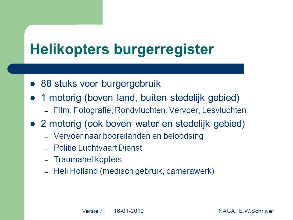 Helikopters burgerregister