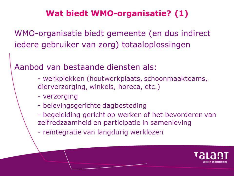 Wat biedt WMO-organisatie (1)