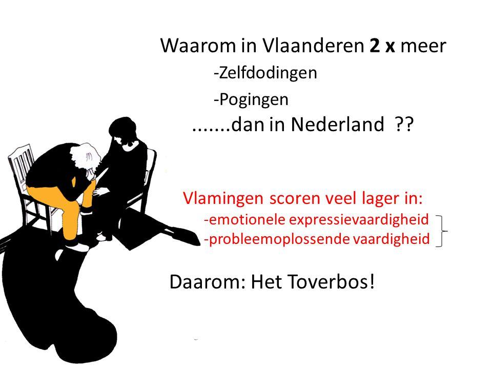 Waarom in Vlaanderen 2 x meer -Zelfdodingen -Pogingen