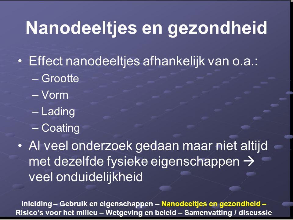 Nanodeeltjes en gezondheid