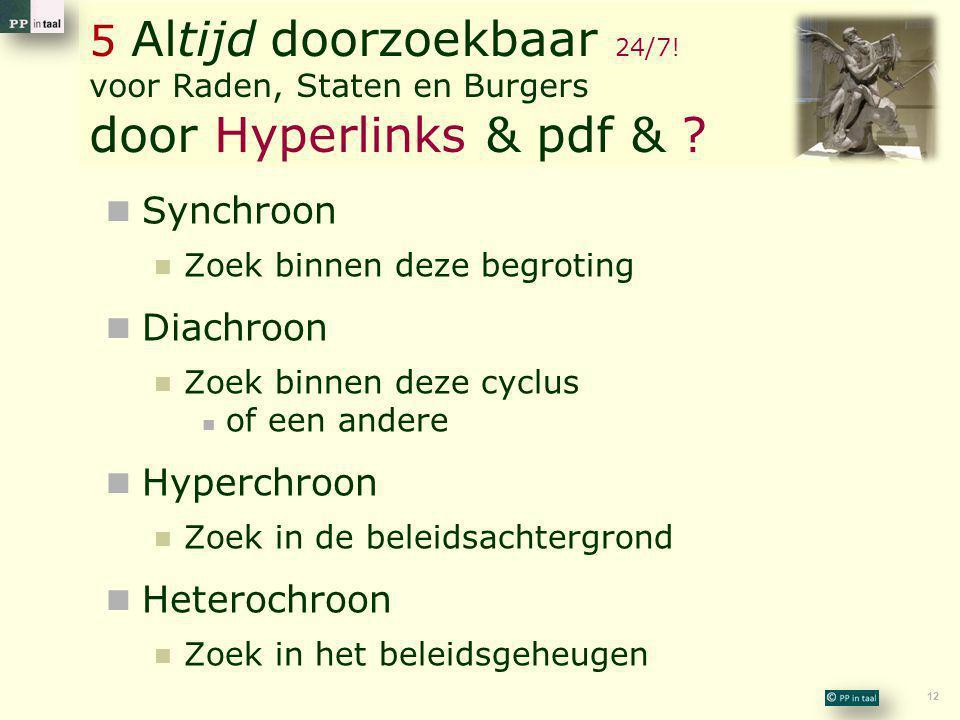 5 Altijd doorzoekbaar 24/7! voor Raden, Staten en Burgers door Hyperlinks & pdf &