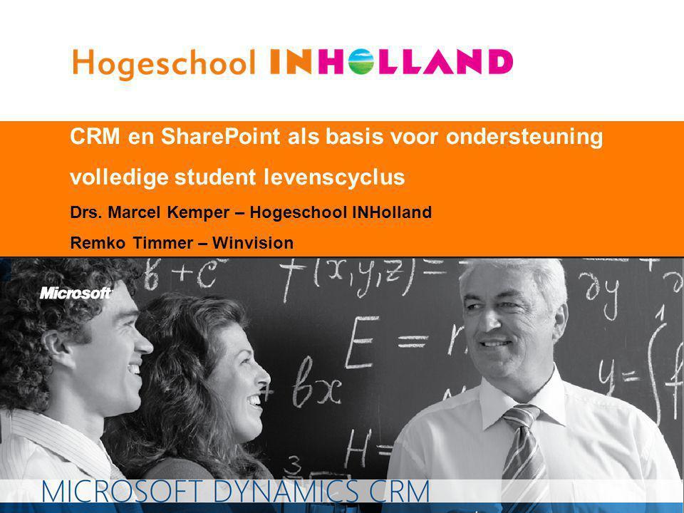 CRM en SharePoint als basis voor ondersteuning volledige student levenscyclus