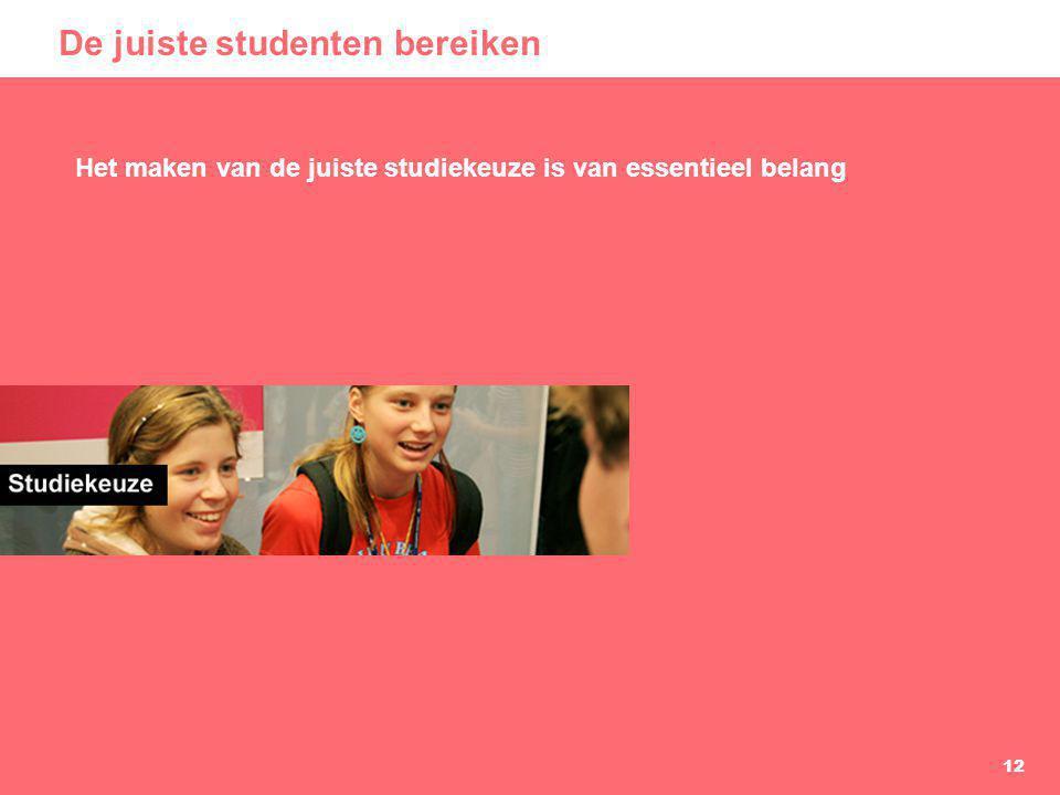 De juiste studenten bereiken
