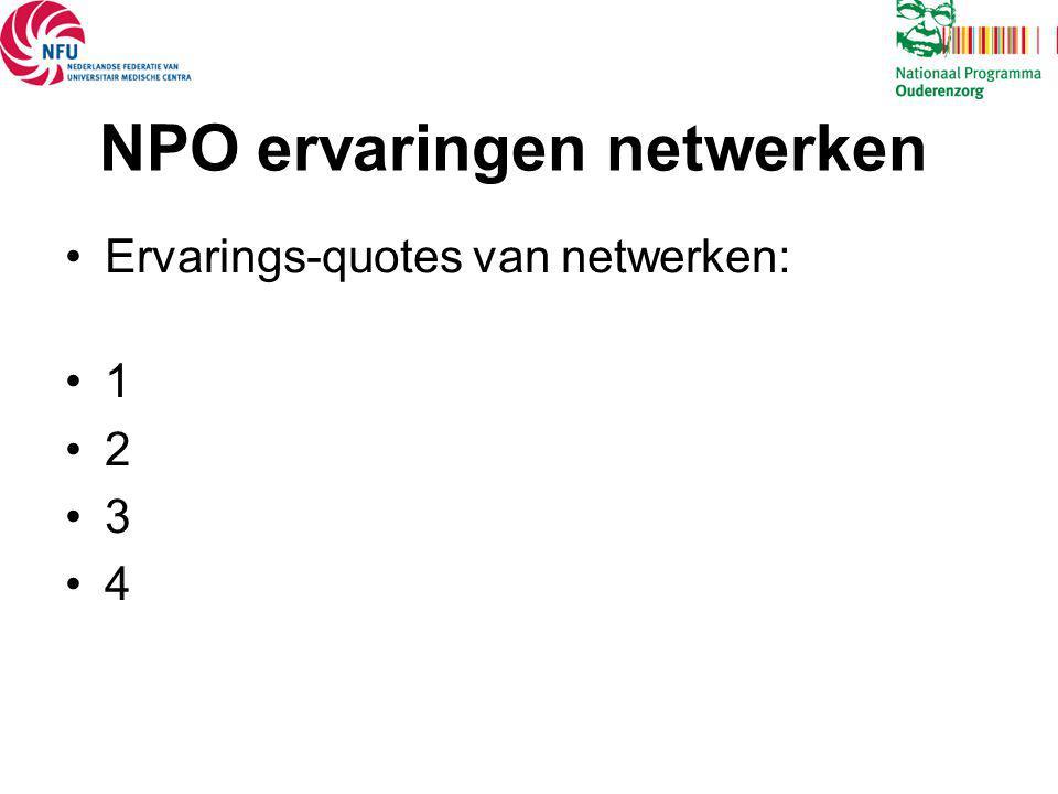 NPO ervaringen netwerken