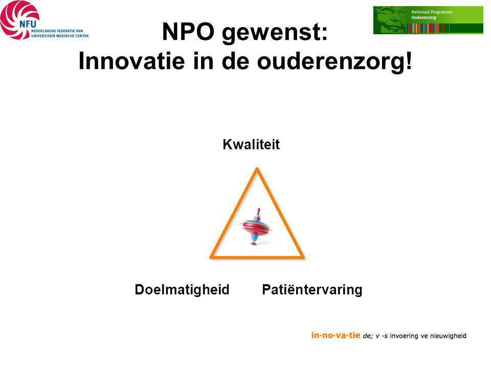 NPO gewenst: Innovatie in de ouderenzorg!