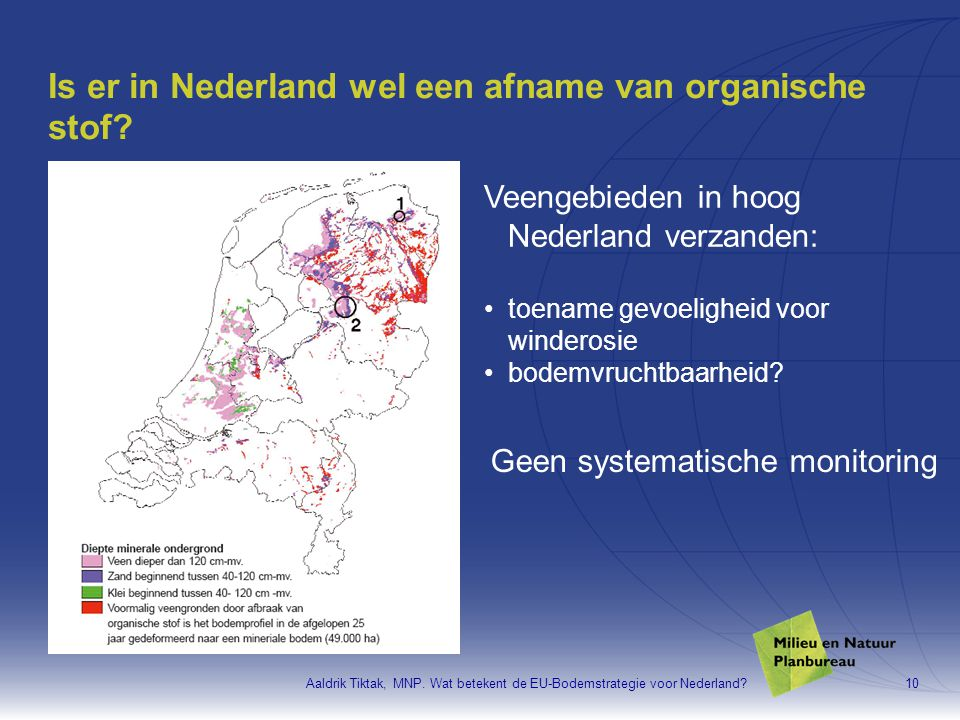 Is er in Nederland wel een afname van organische stof