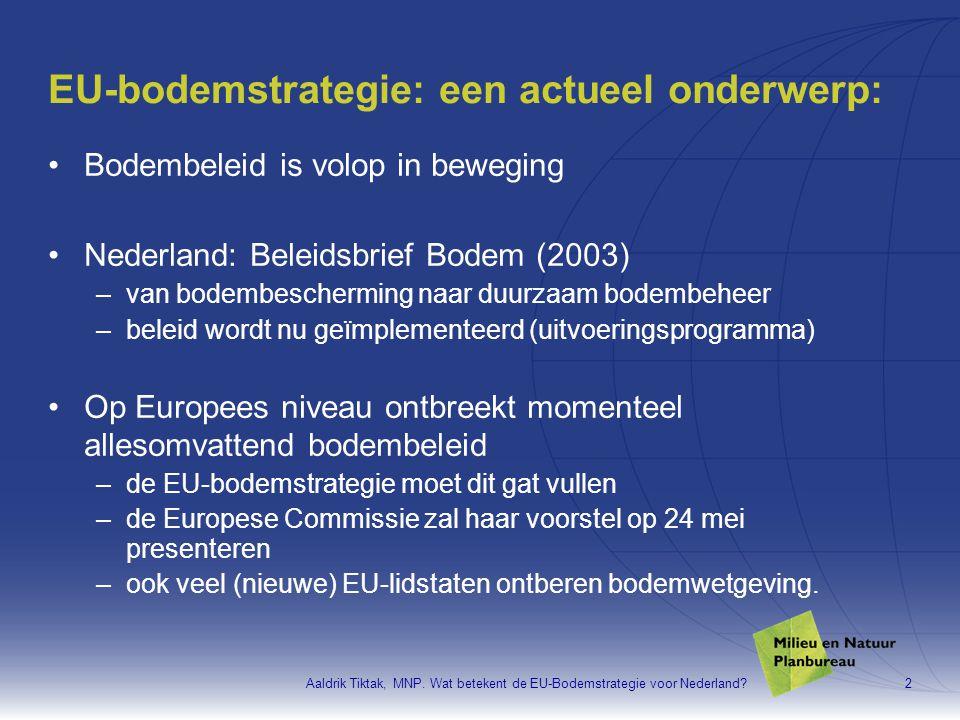 EU-bodemstrategie: een actueel onderwerp: