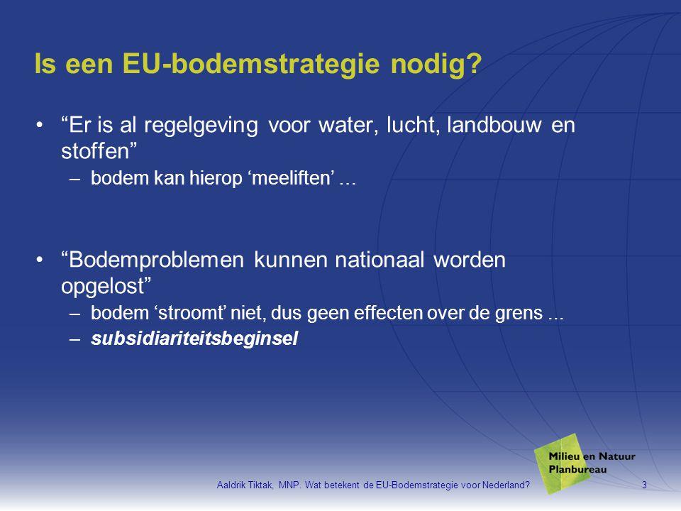 Is een EU-bodemstrategie nodig