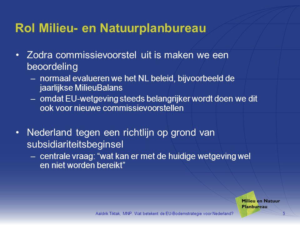 Rol Milieu- en Natuurplanbureau