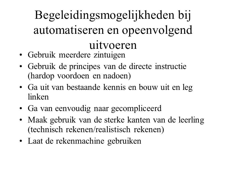 Begeleidingsmogelijkheden bij automatiseren en opeenvolgend uitvoeren