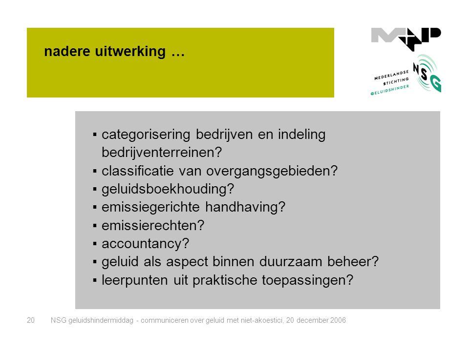 categorisering bedrijven en indeling bedrijventerreinen