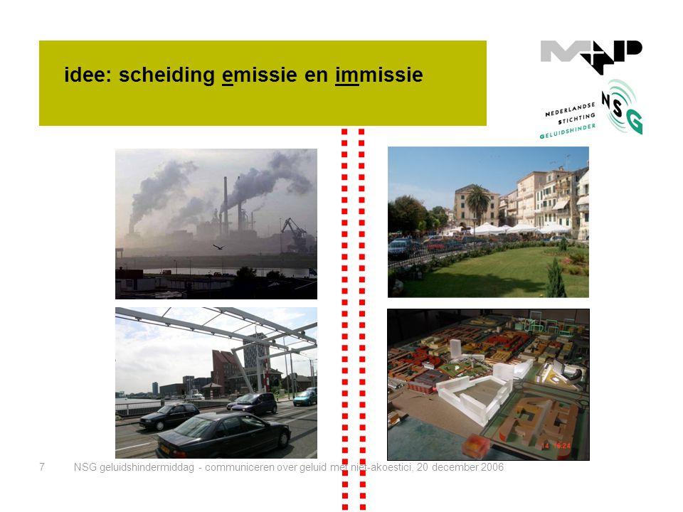 idee: scheiding emissie en immissie