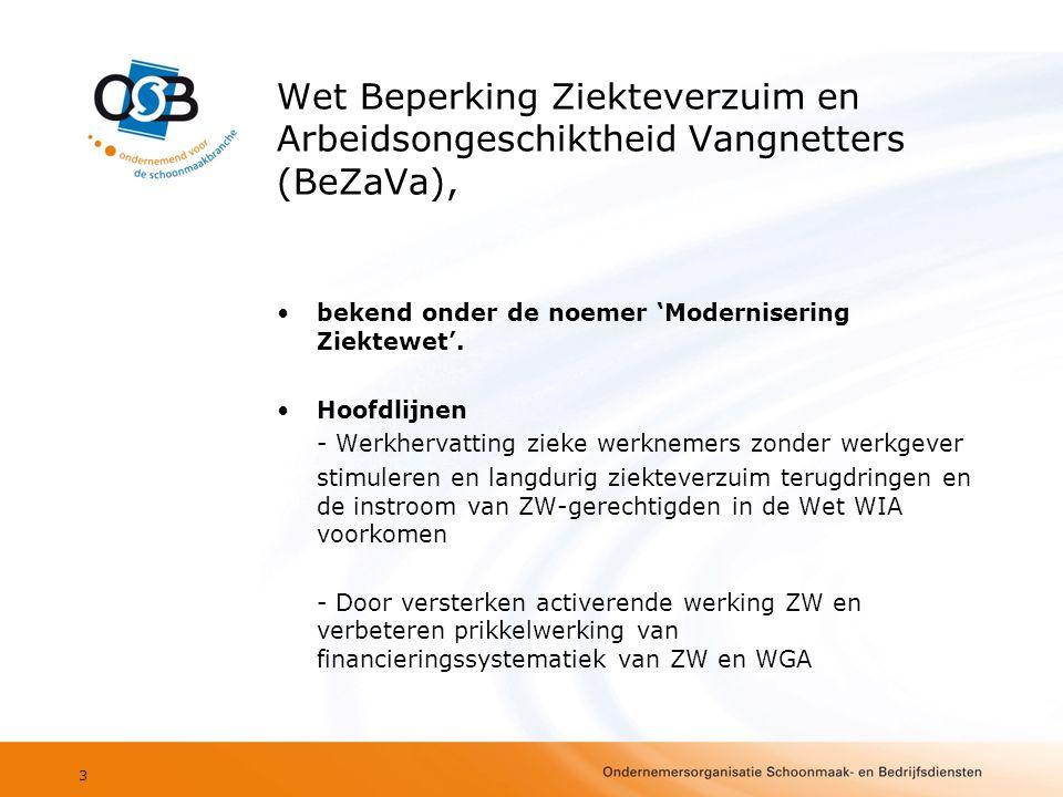Wet Beperking Ziekteverzuim en Arbeidsongeschiktheid Vangnetters (BeZaVa),