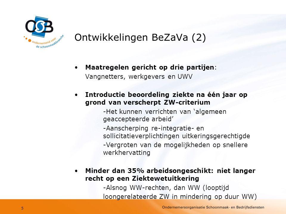Ontwikkelingen BeZaVa (2)