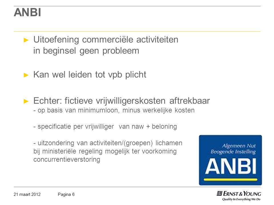 ANBI Uitoefening commerciële activiteiten in beginsel geen probleem