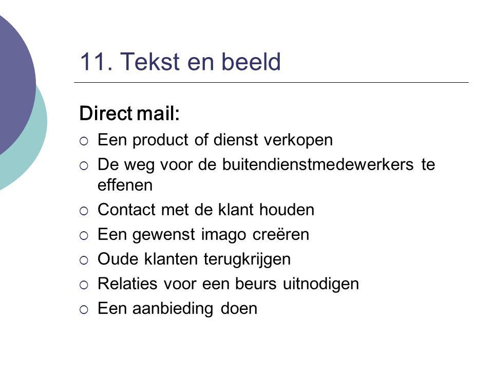 11. Tekst en beeld Direct mail: Een product of dienst verkopen
