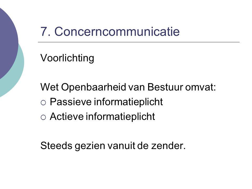 7. Concerncommunicatie Voorlichting