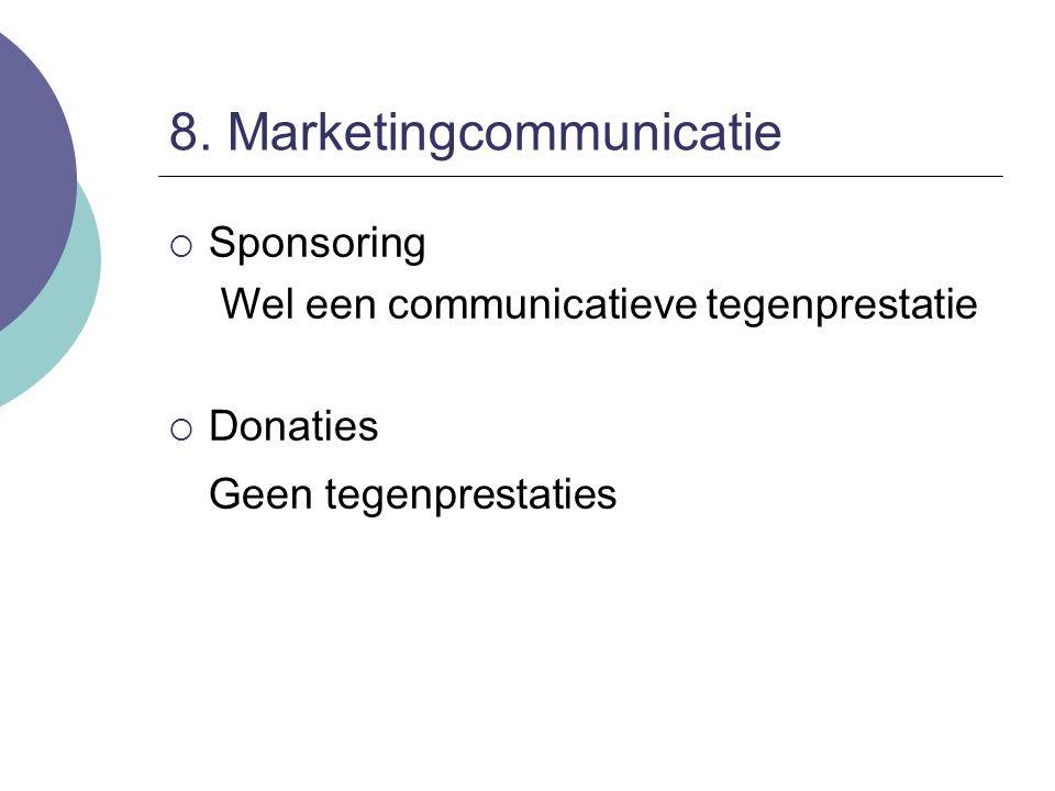 8. Marketingcommunicatie