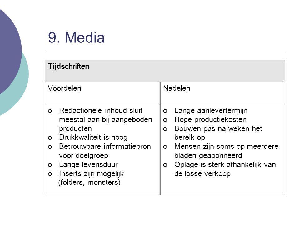 9. Media Tijdschriften Voordelen Nadelen