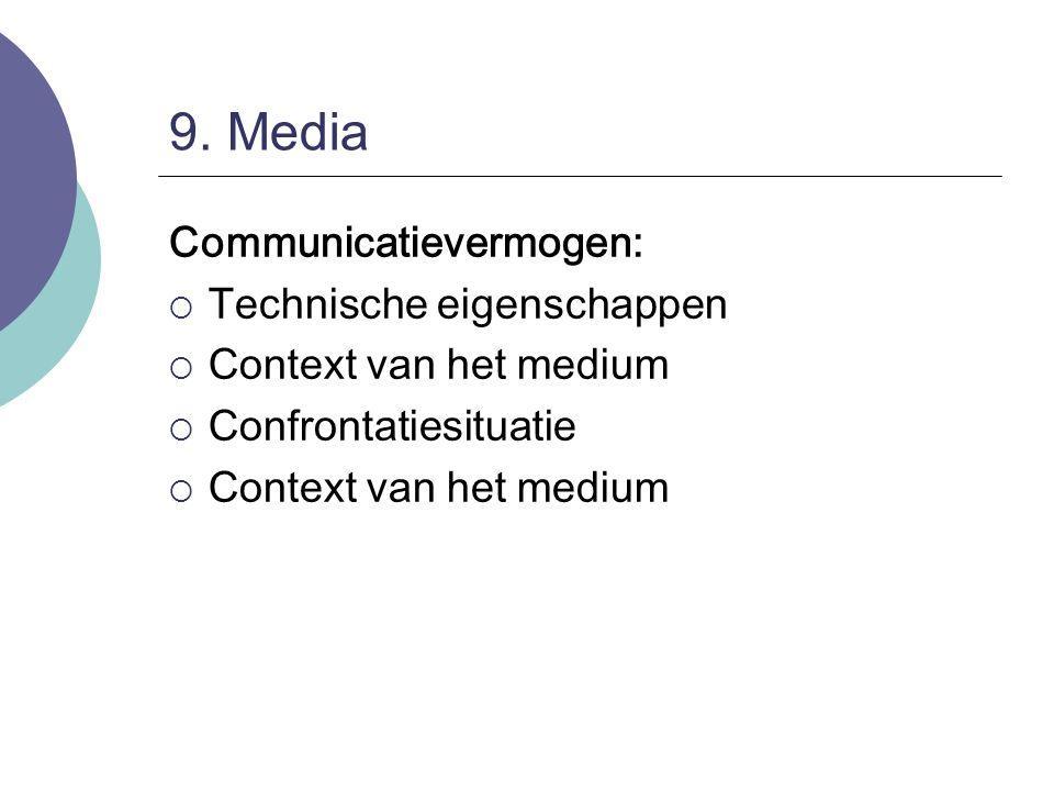 9. Media Communicatievermogen: Technische eigenschappen