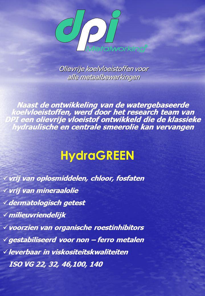 Olievrije koelvloeistoffen voor alle metaalbewerkingen