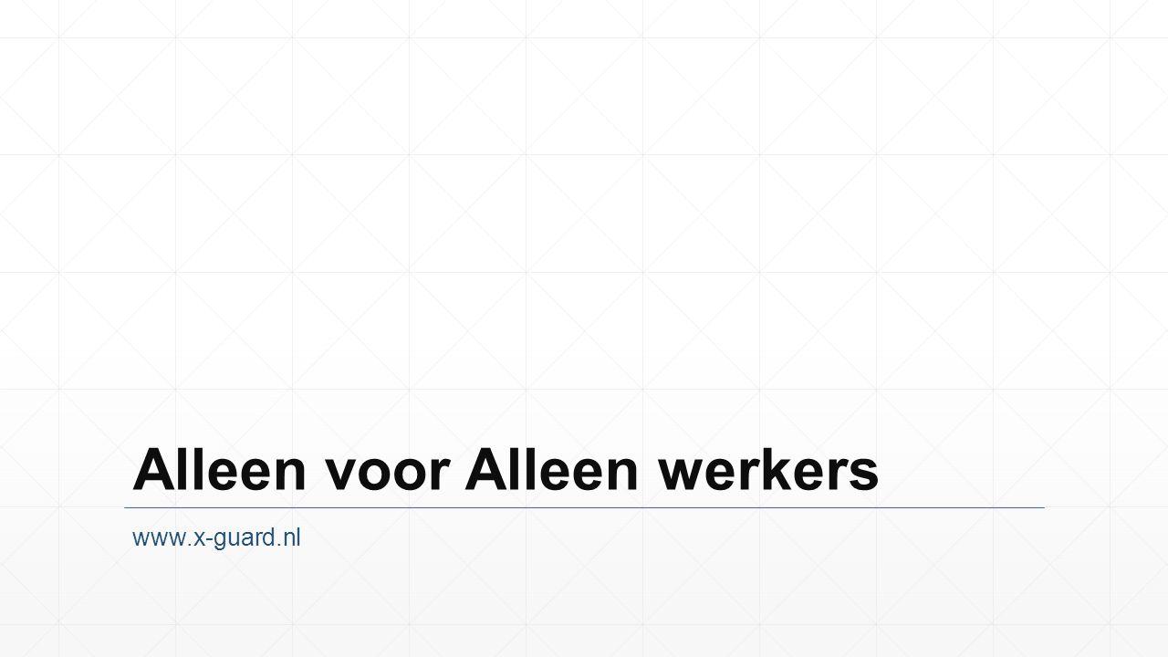 Alleen voor Alleen werkers