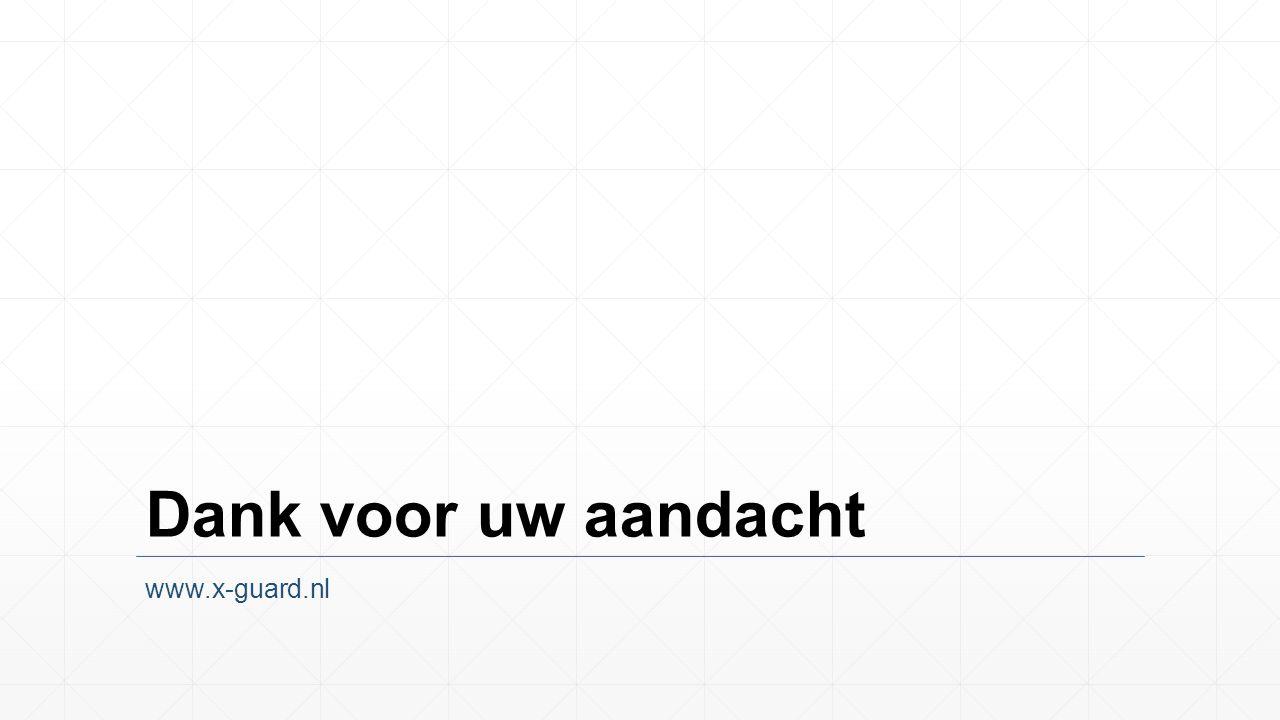 Dank voor uw aandacht www.x-guard.nl