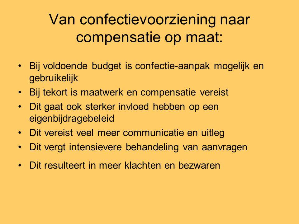 Van confectievoorziening naar compensatie op maat: