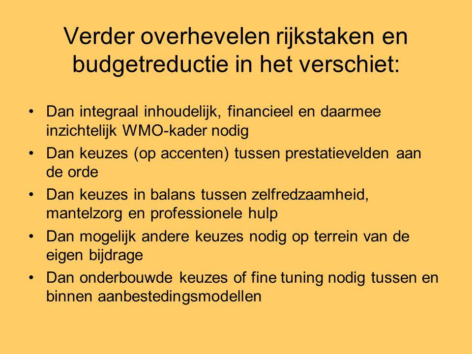 Verder overhevelen rijkstaken en budgetreductie in het verschiet: