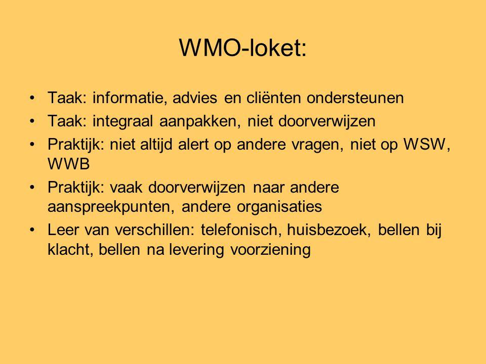 WMO-loket: Taak: informatie, advies en cliënten ondersteunen
