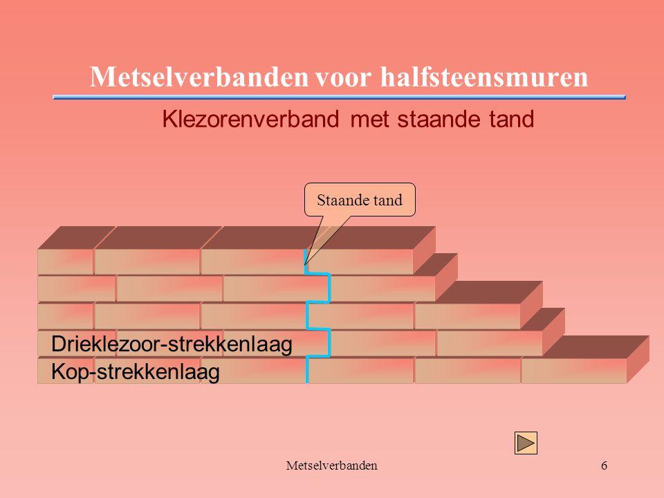 Metselverbanden voor halfsteensmuren