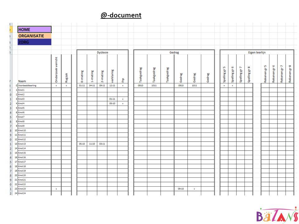 @-document @GroepXX.