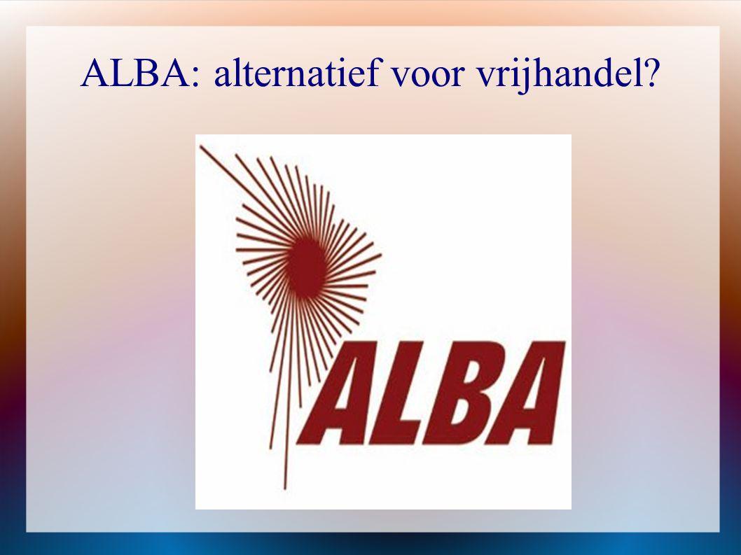ALBA: alternatief voor vrijhandel
