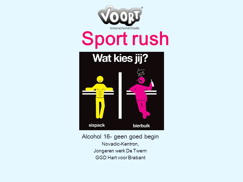 Alcohol 16- geen goed begin