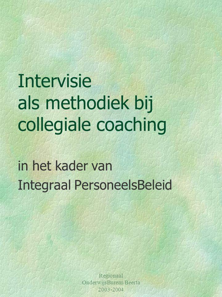 Intervisie als methodiek bij collegiale coaching