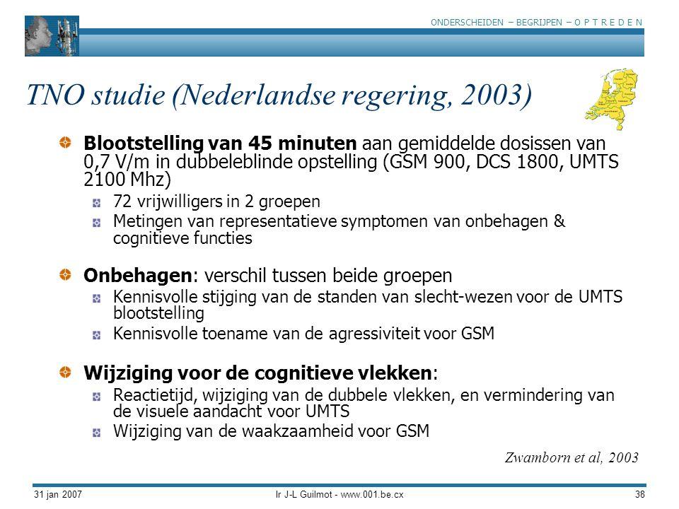 TNO studie (Nederlandse regering, 2003)