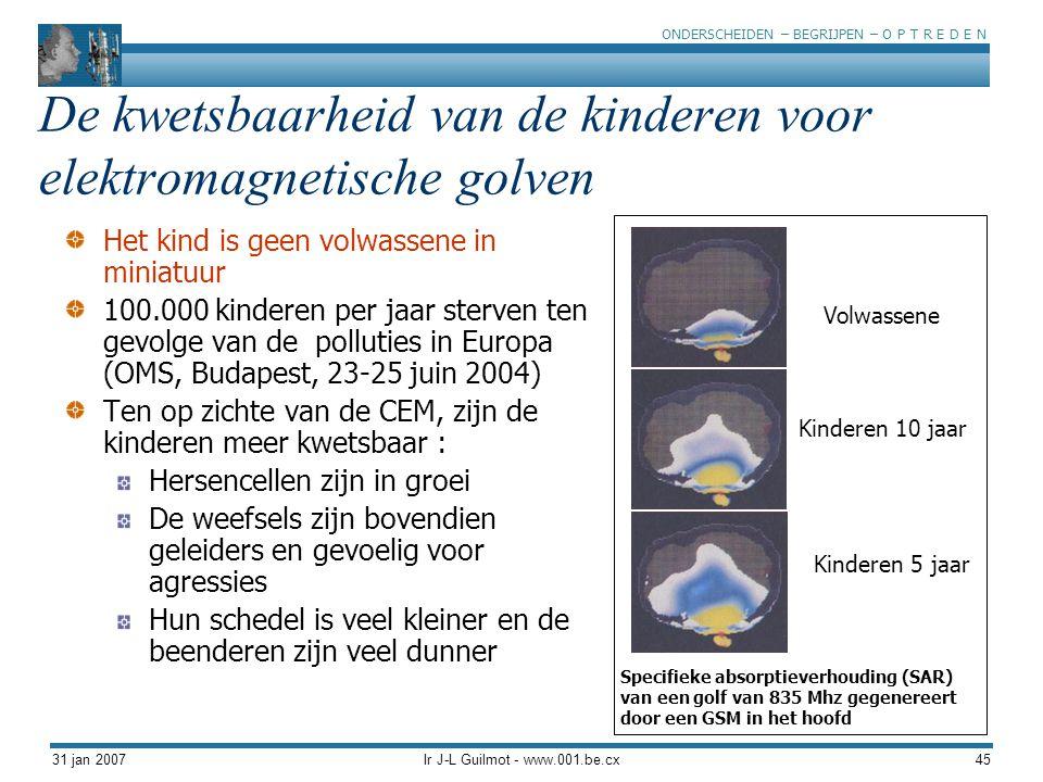 De kwetsbaarheid van de kinderen voor elektromagnetische golven