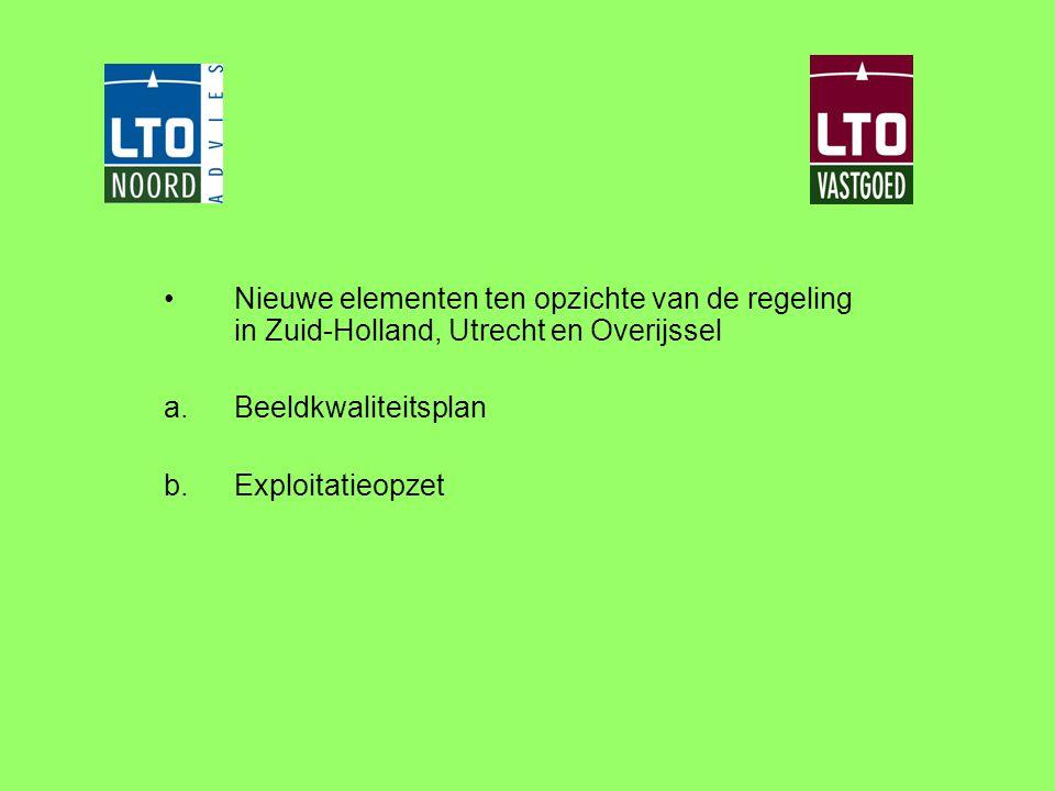 Nieuwe elementen ten opzichte van de regeling in Zuid-Holland, Utrecht en Overijssel